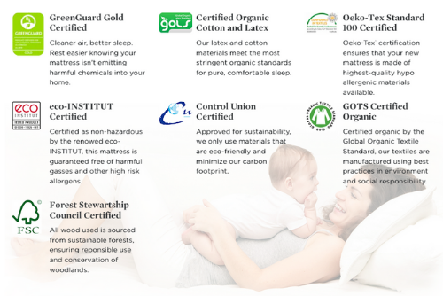 "12"" Botanical Bliss organic certifications"