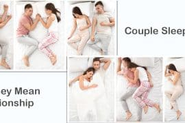 couples sleeping position and what they mean